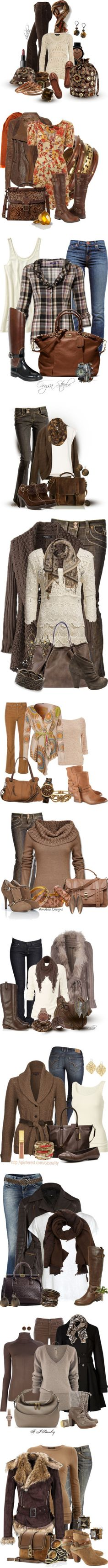"""""""Brown Casuals"""" by shuchiu ❤ liked on Polyvore"""