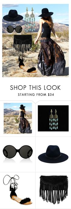 """Bohemian Style"" by florange on Polyvore featuring мода, Yves Saint Laurent, rag & bone, Steve Madden и SUSU"