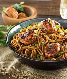 Kung Pao Chicken Spaghetti and Meatballs Recipe on Yummly. @yummly #recipe