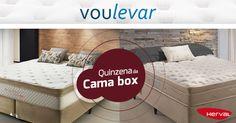 Começou a quinzena das Camas Box Herval. Produtos com até 30 % de desconto, acesse nosso site https://goo.gl/aLS95A  e confira ! #quinzenacamabox #camaboxherval #voulevar #ofertas