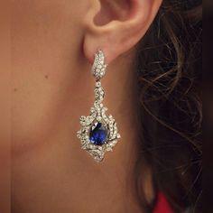 """""""royal blue"""" #cluevjewellery #earings #sapphire"""