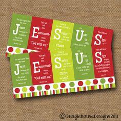 Instant Download Christmas Card Diy Printable Jesus Scripture Christmas Card Christian Bible