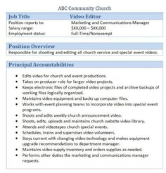Church Human Resource Forms  Church Office Churches And Management