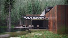 sergey makhno embeds copper house deep within ukranian forest