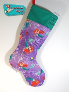 Disneys The Little Mermaid Handmade Christmas Stocking