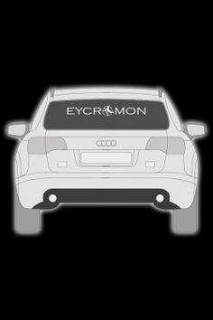 Eycromon Aufkleber für Heckscheibe 80cm