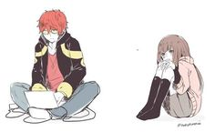 Find images and videos about mystic messenger, 707 and luciel choi on We Heart It - the app to get lost in what you love. Seven Mystic Messenger, Mystic Messenger Fanart, 707 X Mc, Luciel Choi, Messenger Games, Lol, K Idol, Anime Couples, Fan Art