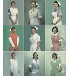 OMG in 1987 my nursing uniform was very close to the green one with a white cap....I am so glad times are changing!