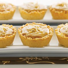 Macaroon Butterscotch Tartlets (Intermediate; 12 tartlets) #macaroon #butterscotch