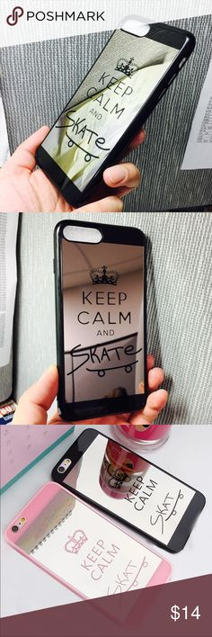 iPhone 7 Plus Cute Hybrid Keep Calm mirror case iPhone 7 Plus Cute Hybrid Keep Calm mirror case Brand new fashion high quality cute hybrid Keep Clam  HD mirror case compatible for Apple iPhone 7 Plus  Fashion, luxury, convenience, Shockproof, anti-knock, drip-proof, scratch-proof  Color: Black  Size: iPhone 7 Plus   Fast shipping  Please make sure you are purchasing the size case. Accessories