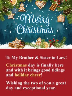 840faae79fa Merry Christmas Card for Brother   Sister-in-Law