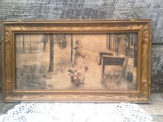 Antique Early Print/Pencil Drawing of 1800's by CottonCreekCottage, $28.99