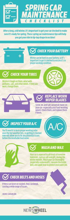 Get your car ready for spring with this maintenance checklist! #spring #cars