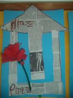 ...Το Νηπιαγωγείο μ' αρέσει πιο πολύ.: Η Επέτειος του Πολυτεχνείου στο Νηπιαγωγείο μας: Η Ντενεκεδούπολη, Η Κυρά Δημοκρατία, Κατασκευές. 28th October, Pre School, Crafts For Kids, Flag, Classroom, Education, Craft, Crafts For Children, Class Room