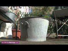 Déco récup' pour le jardin : une bassine en zinc transformée en fontaine | Décoration maison