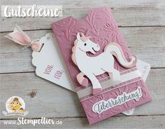 gutschein stampin up bestellen schenken geschenkgutschein stempeltier einhorn unicorn marianne design