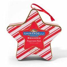 Ghirardelli Chocolate Peppermint Stripe Ornament