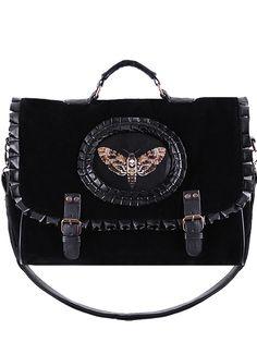 remis en stock back in stock sac cartable mite noire papillon de nuit avec