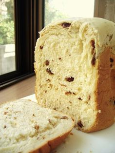 HBでクリームチーズ・ラムレーズン食パン