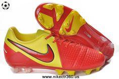 Red Yellow Nike CTR360 Maestri III ACC FG Cleats Nike Football 04396d005e6ff