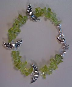 Green Angel Wings Bracelet
