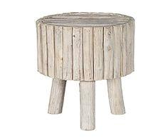 Taburete de troncos de madera natural