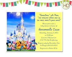 Disney Baby Shower Invitation with customized by HDInvitations