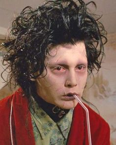 Edward Scissorhands played by none other than Johnny Depp