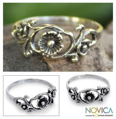 Sterling Silver 'Lotus Rose' Cocktail Ring (Thailand) - Overstock™ Shopping - Great Deals on Novica Rings