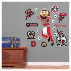 Ohio State Mascot, Ohio State Rooms, Ohio State Wreath, Ohio State Football, Ohio State Buckeyes, Old Home Remodel, Mississippi State Bulldogs, Wall Art Sets