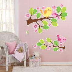 Sweet Tweet Bird Pink - Giant Wall Decals, 78405