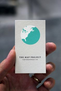 visualgraphic:    The Map Project Business Card