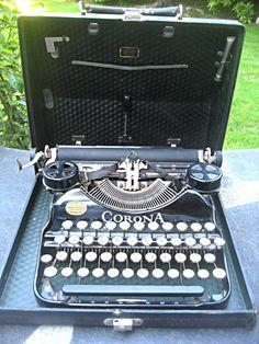 Vintage black typewriter smaller size L.C. by LittleBeachDesigns, $199.00 I Dream Of Genie, Antique Typewriter, Retro Office, Vintage Phones, Vintage Typewriters, Almost Perfect, Old Postcards, Letterpress, Vintage Black