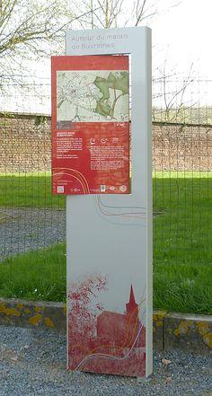 Panneau de randonnée créé par TRACES TPi pour la Ville de Binche - design et graphisme ©TRACES TPi  Design : Laurence Gilon Graphisme : Nancy Lepage Cartographie : Emanuel Daurel