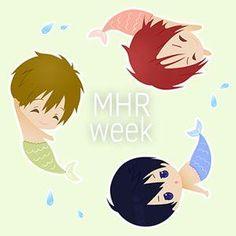 Merman week ...  Free! - Iwatobi Swim Club, free!, iwatobi, makoto tachibana, makoto, tachibana, haru, haruka, nanase, haruka nanase, haru nanase, rin matsuoka, rin, matsuoka, merman