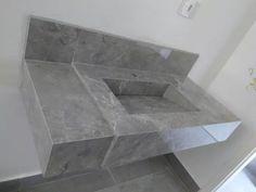 pia de porcelanato com cuba esculpida Cuba, Tile Floor, Flooring, Texture, Table, Crafts, Furniture, Home Decor, Bathroom Sinks