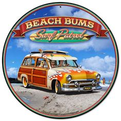From the Larry Grossman licensed collection, this 1951 Woody Vintage Metal Sign measures 14 inches by 14 inches and weighs in at lb(s). This Vintage Metal Sign is hand made in the USA using heavy gauge American steel. Vintage Metal Signs, Vintage Walls, California Logo, Dallas Cheerleaders, Retro Surf, Woody Wagon, Circle Game, Garage Art, Office Wall Decor