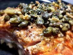 Spring Grilled Salmon w/ Lemon Caper Butter