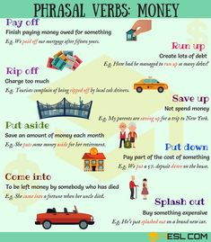 Phrasal Verbs about MONEY