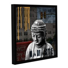 ArtWall Linda Woods's Urban Buddha III Gallery Wrapped Floater-framed (14x14)