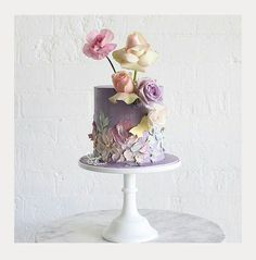 Textured Buttercream Painting Wedding Cakes