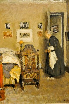 Edouard Vuillard - The Artist's Mother in Her Apartment, Rue de Calais, Paris - Morning, 1922 at the Virginia Museum of Fine Arts (VMFA) Richmond VA