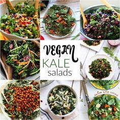 Vegan Kale Salad Recipes | @nutritionstripped
