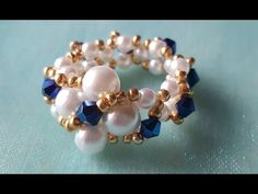 BRAZALETE BLANCO Y ORO -WHITE AND GOLD BRACELET - YouTube