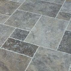 BuildDirect: Travertine Tile Silver Antique Pattern Brushed, Chiseled, and Unfilled