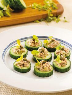 Canapés de concombre au thon Hors D'oeuvres, Filets, Zucchini, Buffet, Vegetables, Salmon Stir Fry, Healthy Balanced Diet, Tuna, Seafood