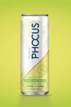 Phocus Lime Soda Can