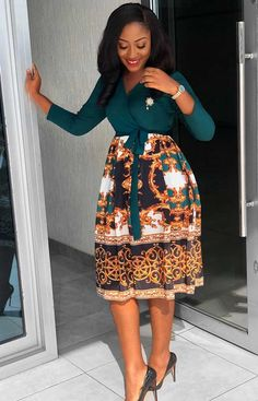Short African Dresses, Latest African Fashion Dresses, African Print Fashion, Women's Fashion Dresses, African Print Dress Designs, Office Dresses For Women, Classy Work Outfits, Modest Dresses, Dresses With Sleeves