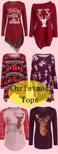 c21ce638217c46 2019 Christmas Tops For Women Online In Tops Store. Best Christmas Tops For  Women For Sale