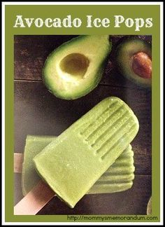 avocado ice pops